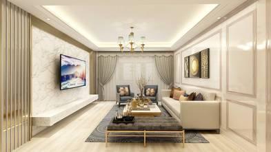 120平米现代简约风格客厅设计图