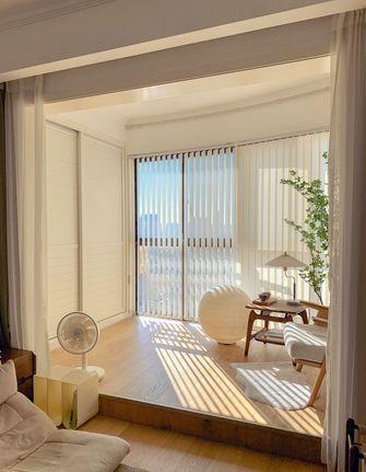 5-10万90平米三室两厅北欧风格阳台欣赏图