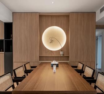 豪华型140平米三室两厅日式风格餐厅装修图片大全