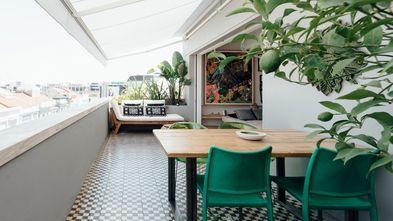 豪华型140平米四室三厅现代简约风格阳台装修图片大全