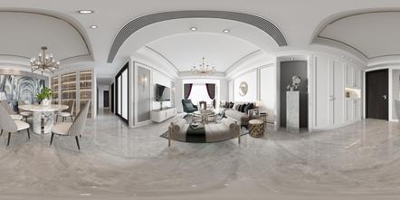 110平米四室两厅北欧风格客厅装修图片大全