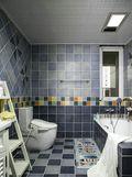 富裕型120平米三室两厅地中海风格卫生间图