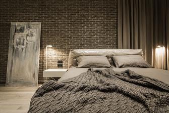 富裕型80平米一室一厅工业风风格卧室装修效果图