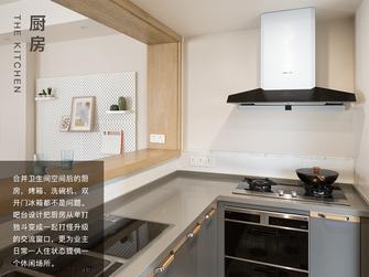 富裕型90平米三室两厅日式风格厨房图