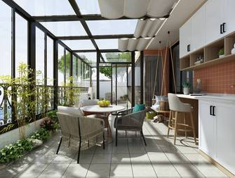 20万以上140平米三现代简约风格阳台效果图