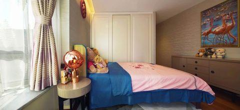 5-10万140平米公寓轻奢风格卧室效果图