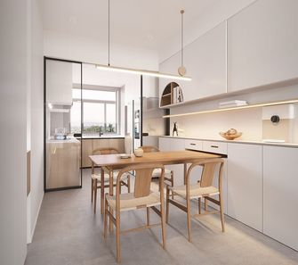 富裕型130平米三室两厅日式风格餐厅欣赏图