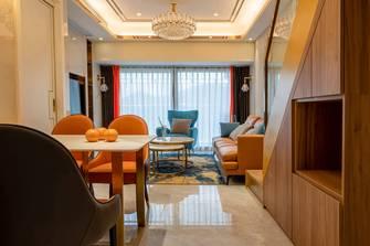 富裕型80平米轻奢风格餐厅装修图片大全