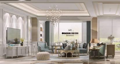 豪华型140平米四室三厅法式风格客厅设计图