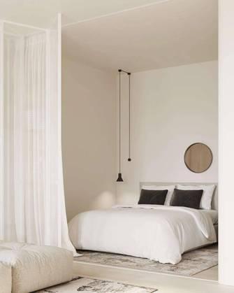 富裕型60平米一室一厅日式风格卧室欣赏图