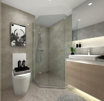 现代简约风格卫生间装修案例