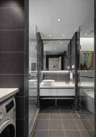 5-10万50平米公寓现代简约风格卫生间装修案例