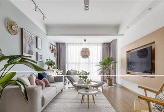 富裕型90平米三室两厅北欧风格客厅图片