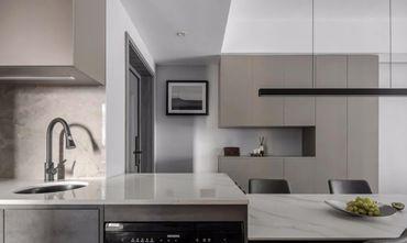 富裕型140平米三室两厅现代简约风格厨房装修案例