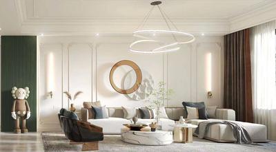 15-20万80平米三室两厅法式风格客厅装修效果图