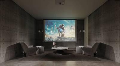 豪华型140平米四室四厅混搭风格影音室欣赏图