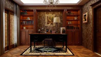 140平米三美式风格书房图片