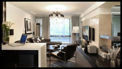 140平米四现代简约风格客厅图片大全