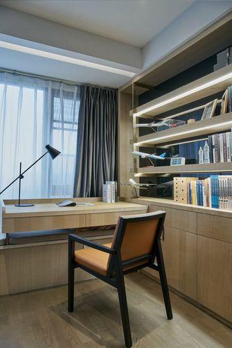 富裕型80平米公寓现代简约风格书房图片