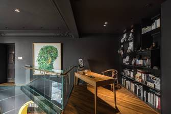 20万以上140平米三室两厅混搭风格书房装修效果图