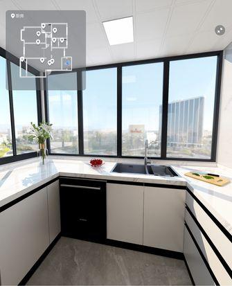 豪华型三室两厅现代简约风格厨房设计图