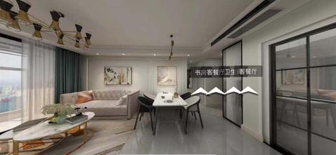 3万以下90平米现代简约风格客厅装修效果图