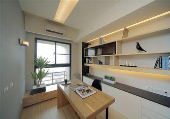 富裕型80平米三室一厅日式风格书房欣赏图