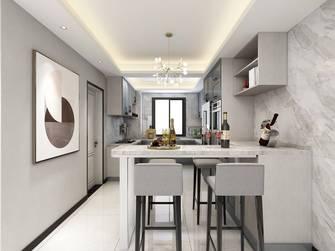 富裕型140平米三室一厅现代简约风格餐厅欣赏图