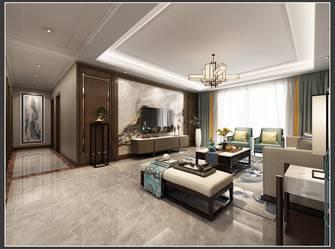 130平米三室三厅现代简约风格客厅装修图片大全