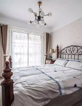 富裕型110平米三室一厅田园风格卧室装修图片大全