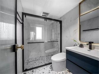 富裕型90平米三室两厅现代简约风格卫生间图片大全