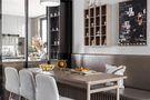富裕型110平米三室一厅田园风格餐厅装修效果图