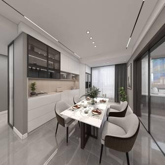 富裕型130平米三室两厅现代简约风格餐厅图