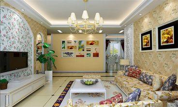 140平米三室一厅田园风格客厅图