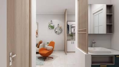 富裕型80平米三室一厅欧式风格走廊图片大全