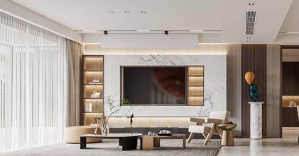 豪华型140平米四室两厅现代简约风格客厅图片