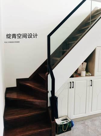 10-15万110平米三室一厅现代简约风格楼梯间图片大全