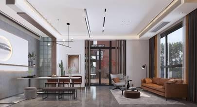 富裕型140平米三混搭风格客厅欣赏图
