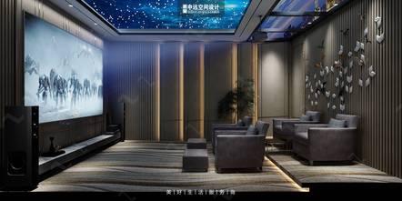 豪华型140平米别墅轻奢风格影音室图片大全