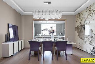富裕型140平米四室两厅现代简约风格餐厅设计图