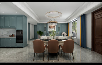 140平米别墅港式风格餐厅图