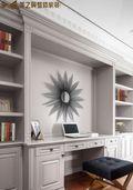 富裕型120平米四室两厅法式风格书房图片