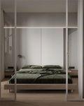 经济型70平米公寓混搭风格卧室设计图