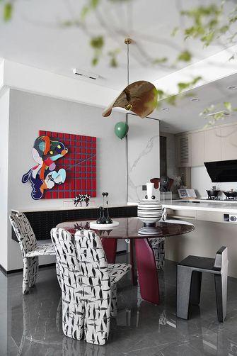 富裕型110平米三美式风格餐厅图片大全