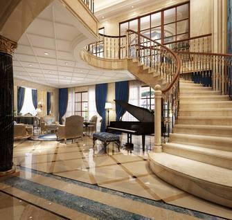 豪华型140平米别墅欧式风格楼梯间装修效果图