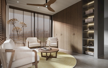 130平米三室三厅现代简约风格阳台图