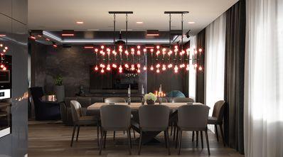 富裕型140平米三美式风格餐厅设计图