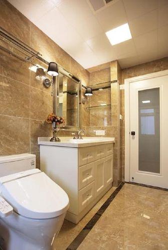 富裕型110平米三室一厅美式风格卫生间装修图片大全