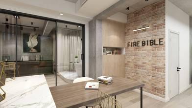 三室三厅工业风风格餐厅装修效果图