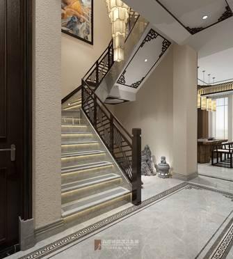 20万以上140平米复式中式风格楼梯间装修图片大全